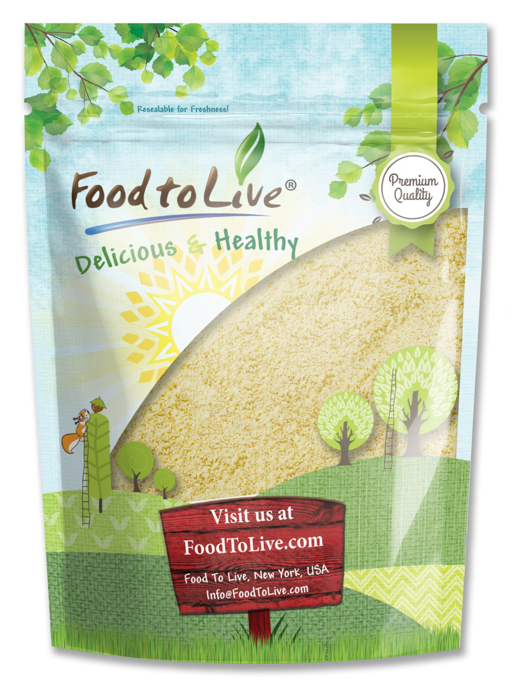 Food to Live Blanched Almond Meal / Flour (2 Pounds) by Food to Live  (Image #1)