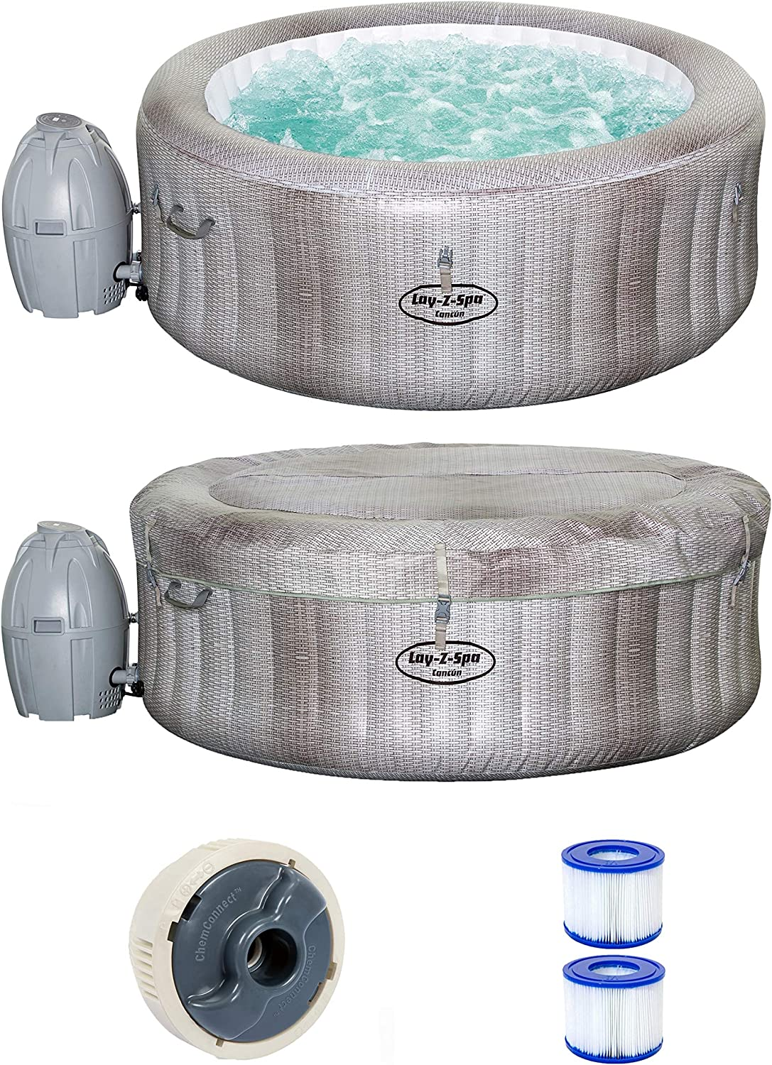 Bestway 54286 - Spa Hinchable Lay- Z-Spa Cancun Para 2-4 personas ...