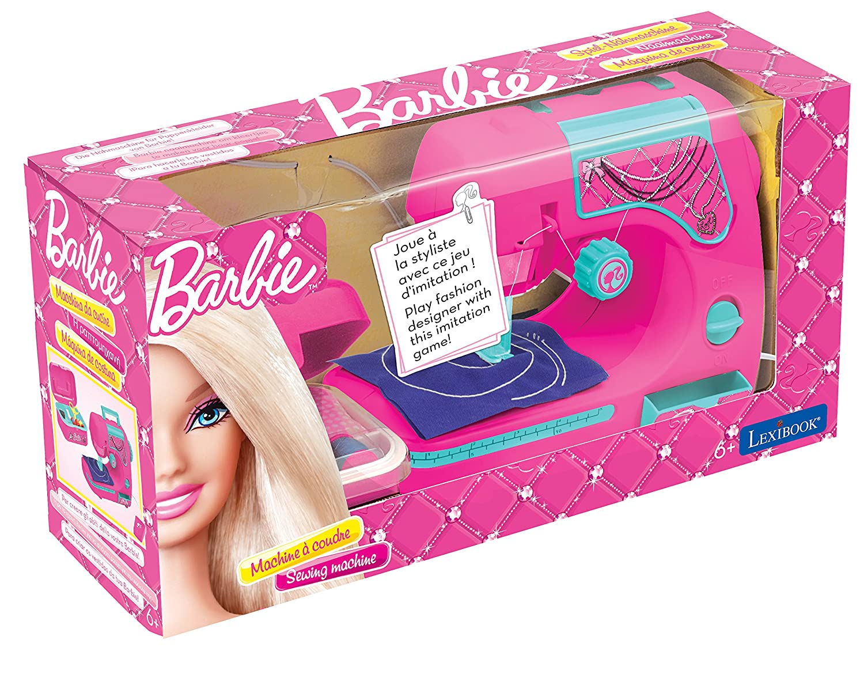 LEXIBOOK Barbie - Mi primera máquina de coser, color rosa SW102BB: Amazon.es: Juguetes y juegos