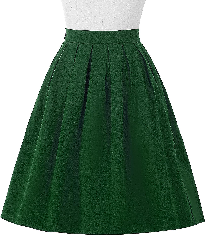 Yafex - Falda - Noche - para Mujer Verde Verde Oscuro Large ...