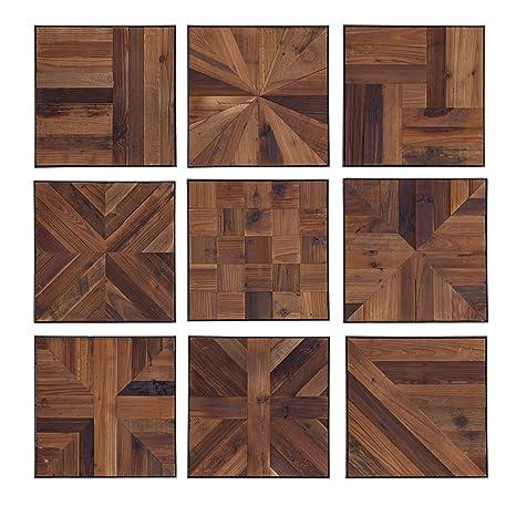 Amazon Com Furniture Hotspot Reclaimed Wood Tiles 9 Piece