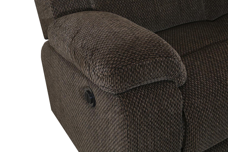 Pleasant New Classic Furniture Burke Upholstery Recliner Sofa Power Light Ebony Cjindustries Chair Design For Home Cjindustriesco