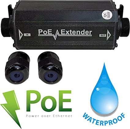 Extender Network-Repeaters IEEE 802.3af Compliant CENTROPOWER PoE PoE Extender Ethernet 2 Port Switch Gigabit 30W