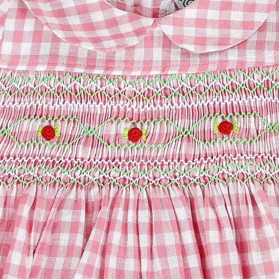 Mafana Pink Gingham Smocked Baby Dress Size 12-18 Months BNWT