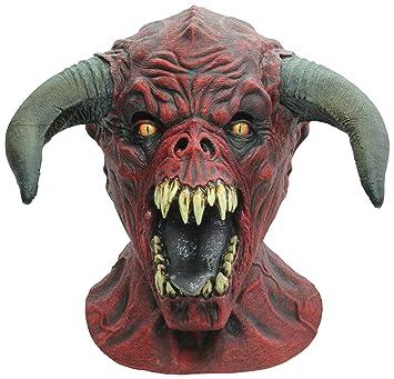 Máscara de toro rojo adulto Halloween - Única