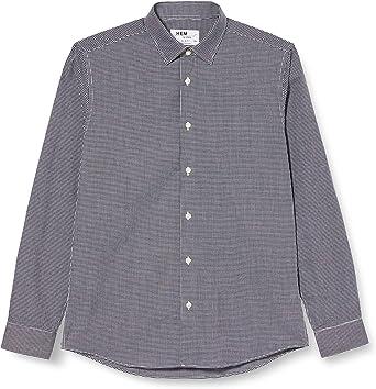 Marca Amazon - find. Camisa de Cuadros Vichy Slim Fit Hombre ...