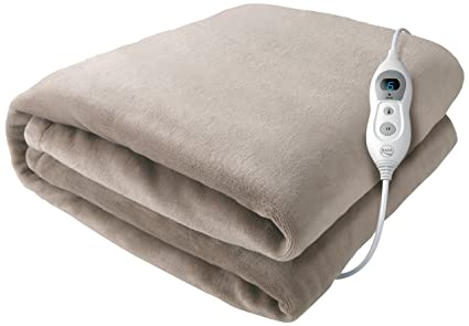 Daga Manta Eléctrica Flexy Heat Softy Fleece Gris Oscuro 150 X 100: Amazon.es: Hogar