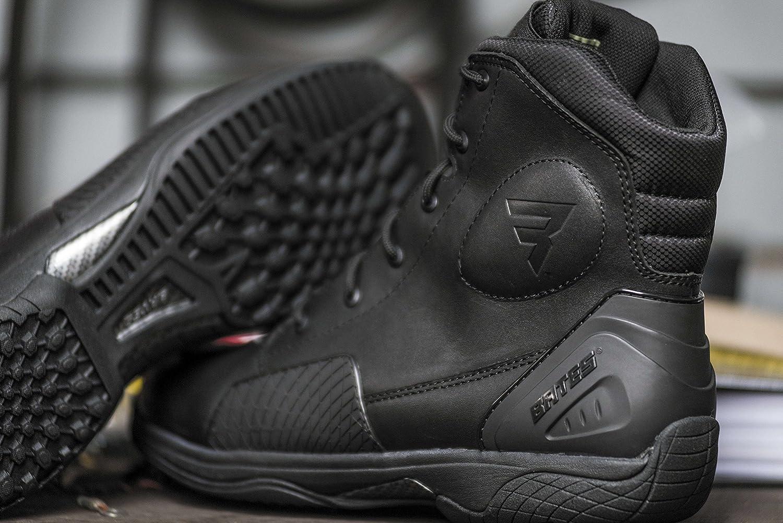 Black, Size 8 Bates Adrenaline Performance Mens Motorcycle Boots
