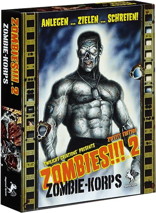 Pegasus Spiele 54110G - Zombies!!! 2: Zombie-Korps, Juego de Mesa ...