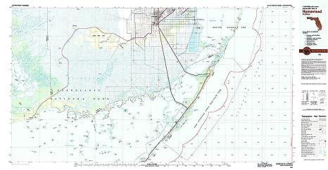 Map Of Homestead Florida.Amazon Com Homestead Fl Topo Map 1 100000 Scale 30 X 60 Minute