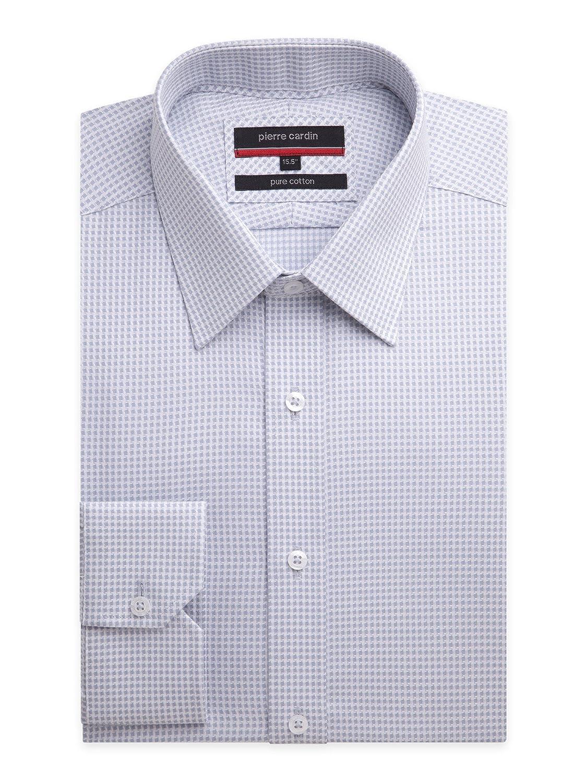 große Vielfalt Stile Outlet-Boutique Top Marken Suit Direct Pierre Cardin Grey Houndstooth Regular Fit Shirt ...