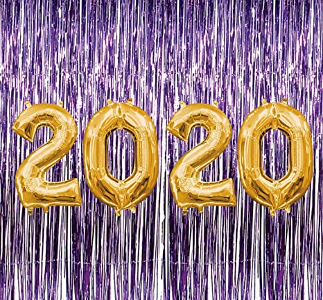 Purple and Yellow Background Class of 2019 Graduation Banner Party Decoration