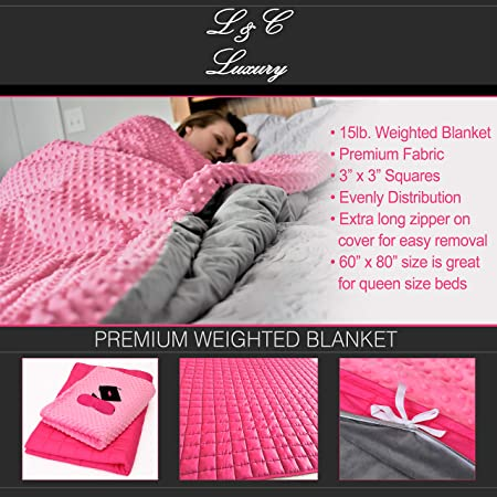 Amazoncom Lc Luxury Adult Weighted Blanket Premium Heavy Cotton