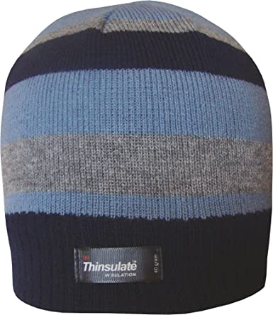 MENS BOYS 3M THINSULATE INSULATED THERMAL FLEECE BEANIE HAT BOBBY WINTER COLD