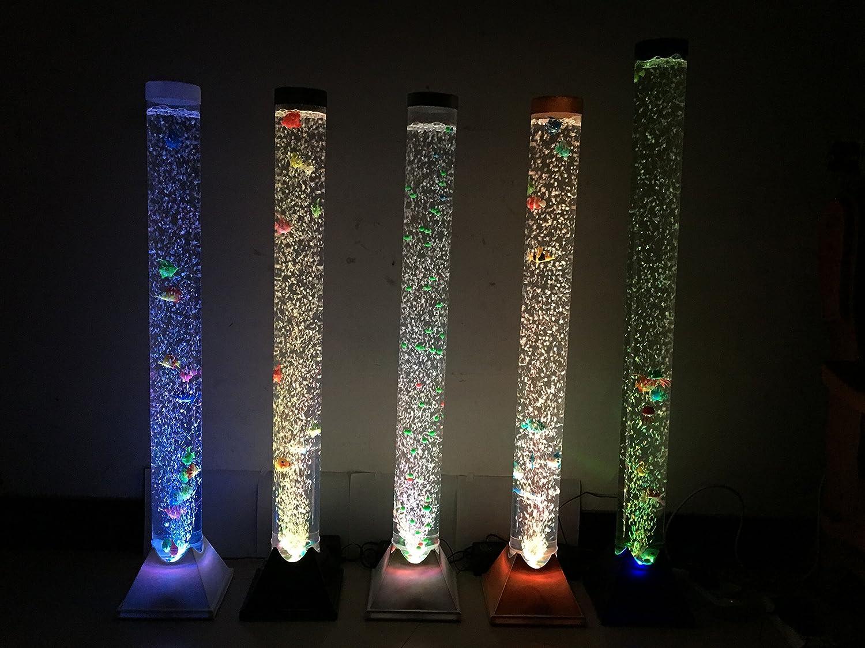 きらめく インテリア水の機能気泡管ライトledと魚 フロアランプ バブル魚灯 (100cm) B01N6IIH9Y100cm