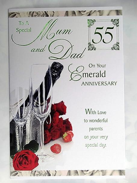 55 Anniversario Di Matrimonio.Biglietto Di Auguri Per Il 55 Anniversario Di Matrimonio Dei