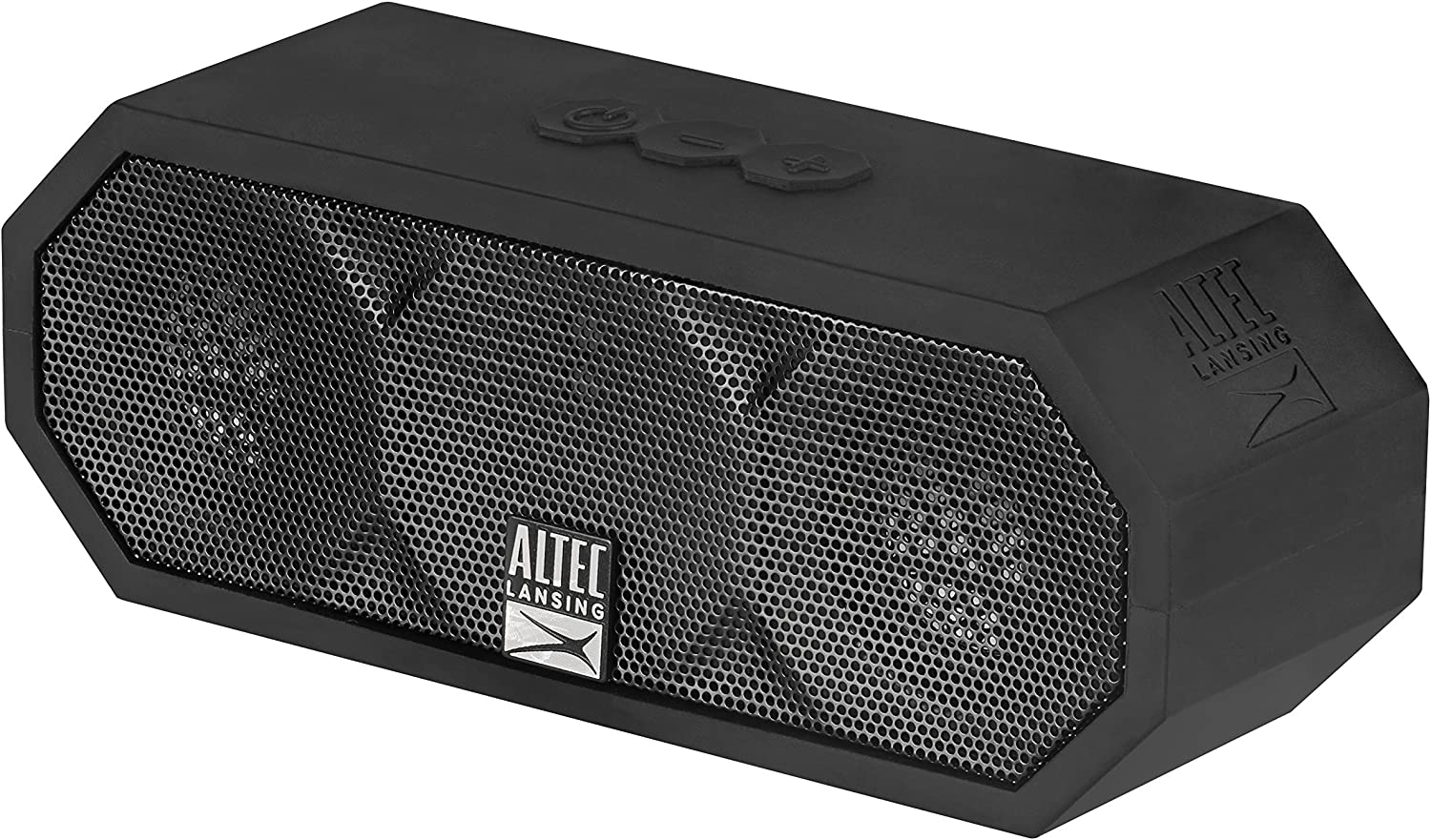 Altec Lansing IMW457-BLK Jacket H2O 2 Bluetooth Speaker, IP67 Waterproof, Shockproof And Snowproof Rated And It Floats Rating, 8 Hours Of Battery, ...