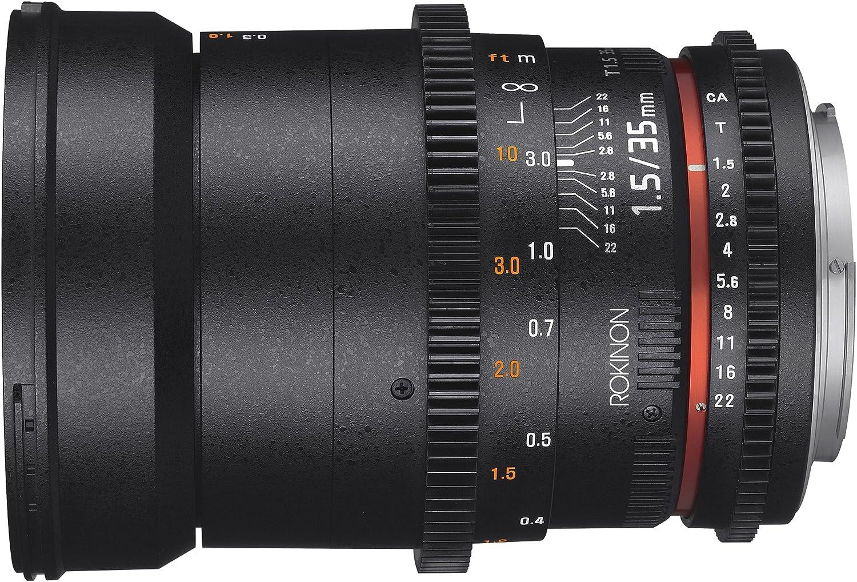 Camera Lenses Rokinon Cine DS DS35M-MFT 35mm T1.5 AS IF UMC Full ...
