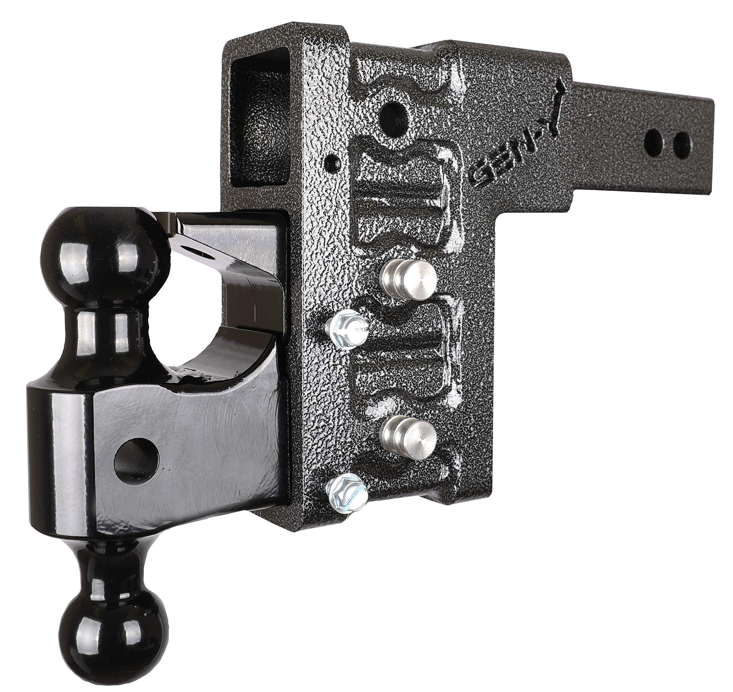 Drop Hitch ONLY Works 3'' ID Receiver Hitch GH 1723, Combo Includes Dual Hitch Ball, Pintle Lock & 2-3/4'' Hitch pins (6'' Drop 3'' Receiver) by Gen•Y