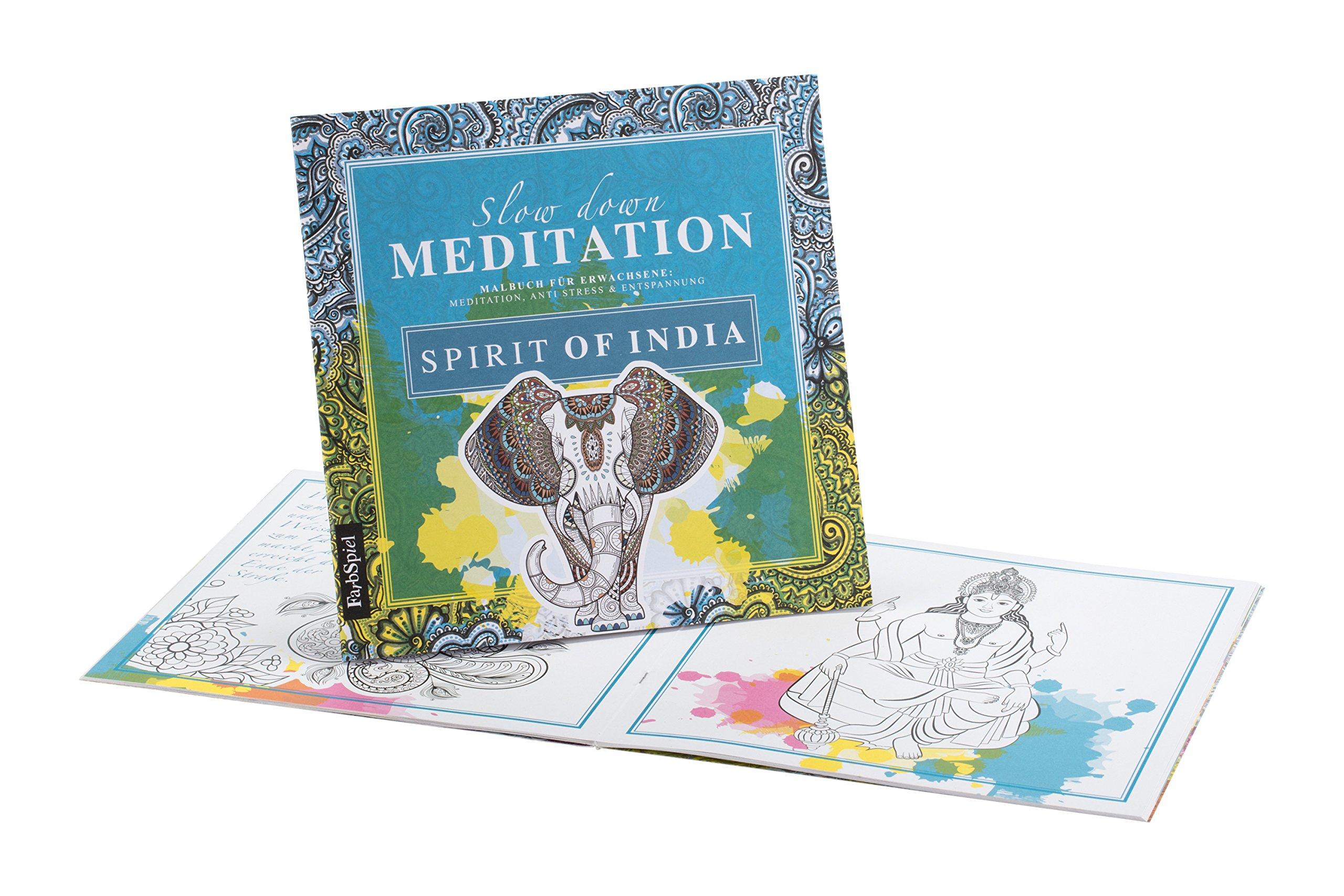 Malbuch Erwachsene Entspannung: Spirit of India - Mit zauberhaften ...
