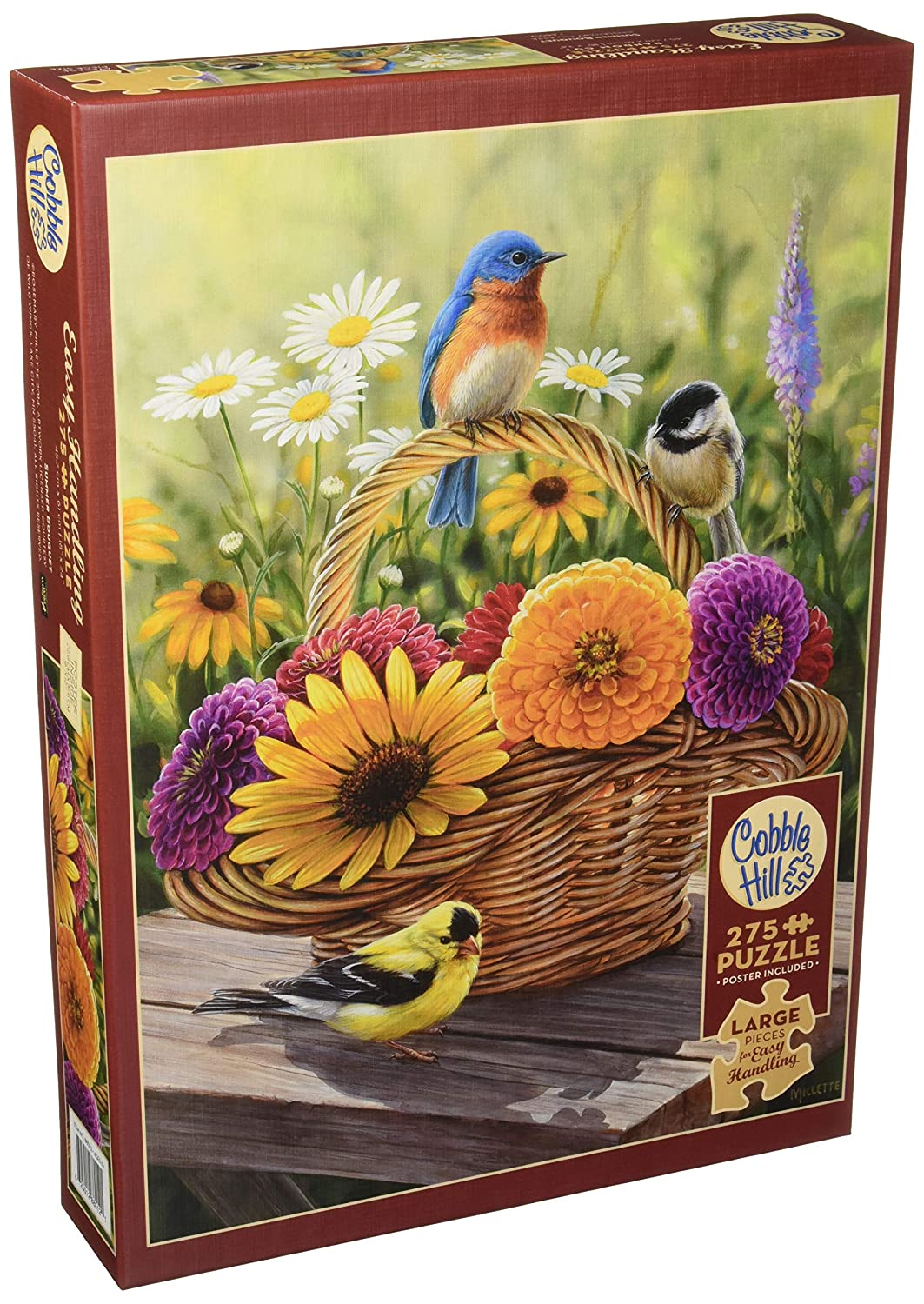 【驚きの値段】 Cobblehill 88012 XL 275 pc Summer 275 88012 Bouquet Puzzle, Puzzle, Various B07CP4ZFKM, イチマル:6c4a5893 --- fenixevent.ee