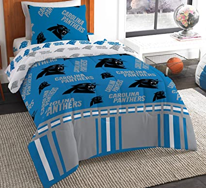 54c9b93e7e1 Image Unavailable. Image not available for. Color: The Northwest Company NFL  Carolina Panthers Twin ...
