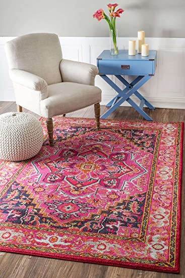 Amazon.com: Traditional Area Rug Oriental Persian Look 3x5 Floral ...