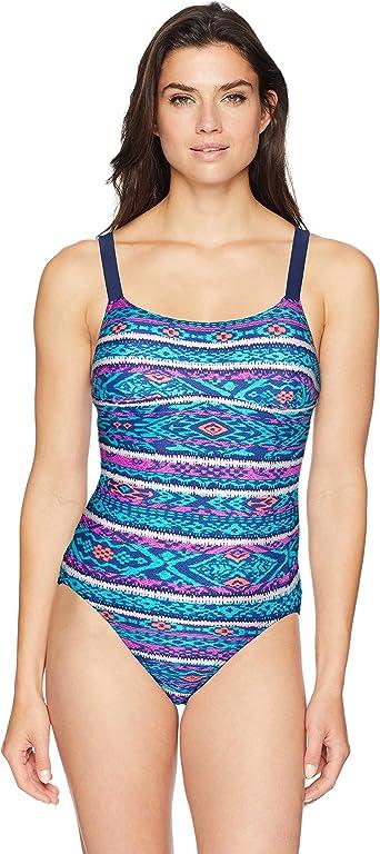1 PC Ladies Rounded Neckline One Piece Swimsuit