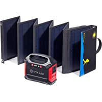 IVYX Scientific Compact Solar Generator, 60W Solar Panel and 155Wh Lithium Ion Battery/AC Inverter