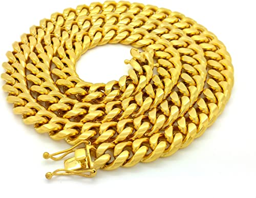 """Hip Hop Rope Chain Necklace 20/"""" 22/"""" 24/"""" 26/"""" 30/"""" inch 14K Gold Finish"""
