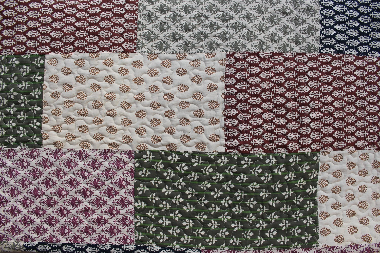 misure 220 x 280 cm misura grande Plaid patchwork matrimoniale in puro cotone fantasia floreale Mango Gifts