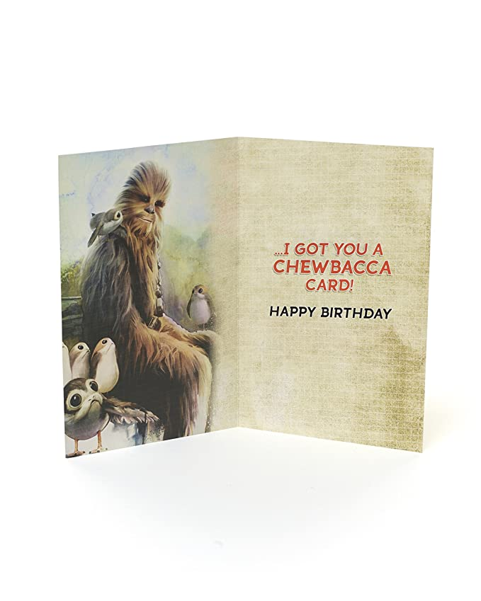 Birthday Card Star Wars Birthday Card Featuring Chewbacca Ideal
