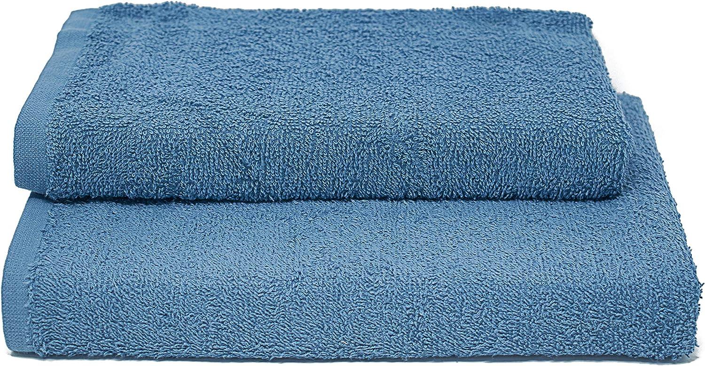 Set de toalla Erika 1+1 35x55cm+50x95cm Light Blue