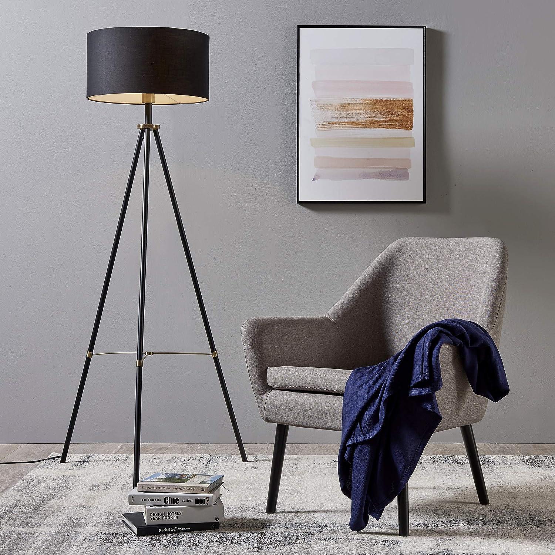 Laiton Noir//Antique Tissu m/étal Versanora VN-L00052-EU Lampadaire