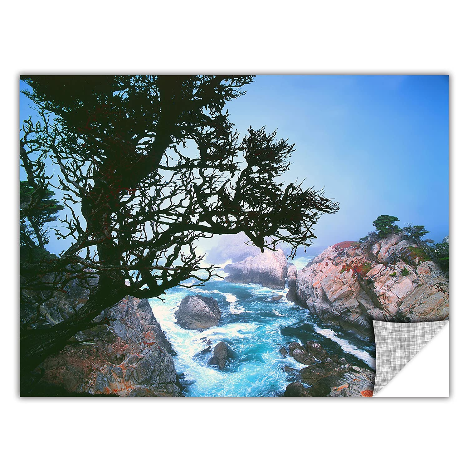 ArtWall ArtApeelz Lifting Fog at Cypress Point Removable Graphic Wall Art by Dean Uhlinger 14 by 18-Inch