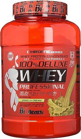 Beverly Nutrition 100% Deluxe Whey Professional Proteína Concentrada Sabor Vainilla y Crema - 2000 gr