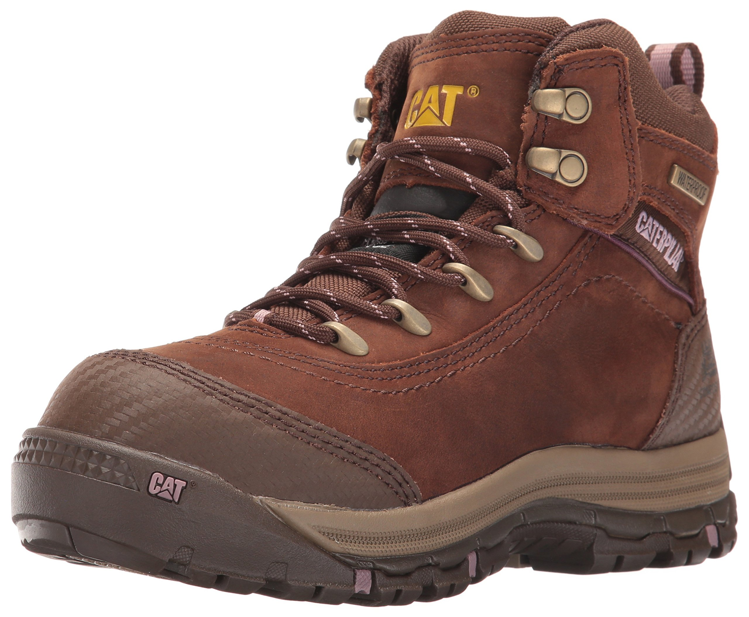 Caterpillar Women's Ally 6'' Waterproof Comp Toe Industrial and Construction Shoe, Brown, 6.5 M US