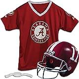 Franklin Sports Kids College Football Uniform Set - NCAA Youth Football Uniform Costume - Helmet, Jersey, Chinstrap Set - Youth M
