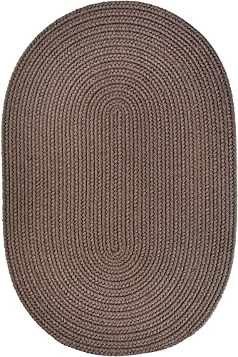 Super Area Rugs Maui Braided Rug Indoor Outdoor Rug Washable Reversible Neutral Patio Porch Kitchen Carpet, 2 X 3 Oval