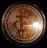 bitcoin ビットコイン バーチャルマネーメダル ゴールド色 コレクション用