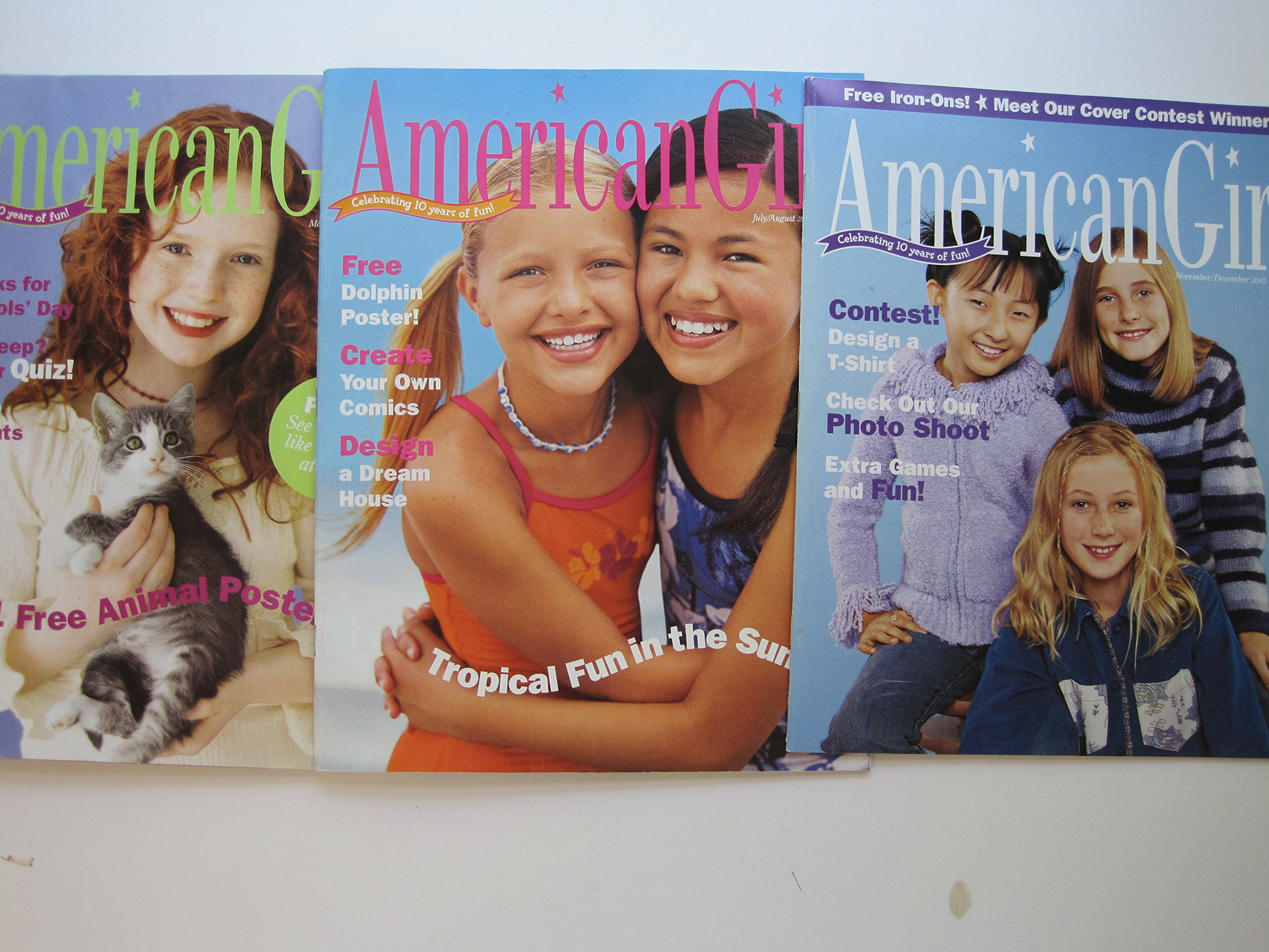 American Girl Magazines 2003 Three Issues: March/April, July