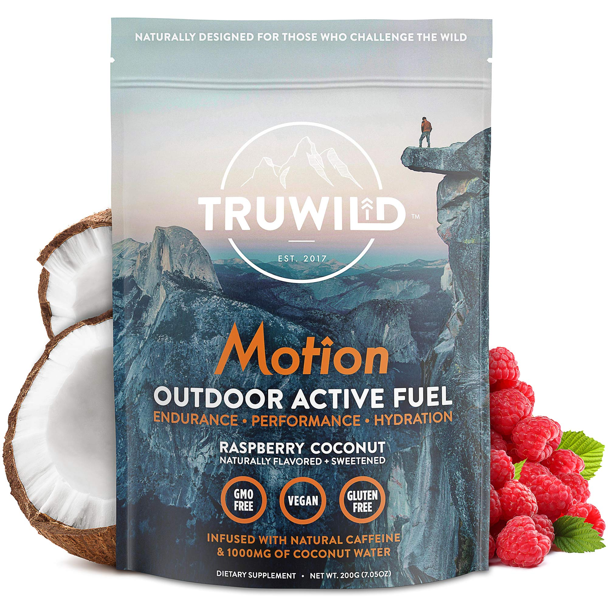 Motion - All Natural Pre Workout Powder Drink Mix for Men and Women - Plant Based Vegan Keto Preworkout Energy Drink Supplement - Amino Acids - Creatine Free - No Crash or Jitters by TruWild