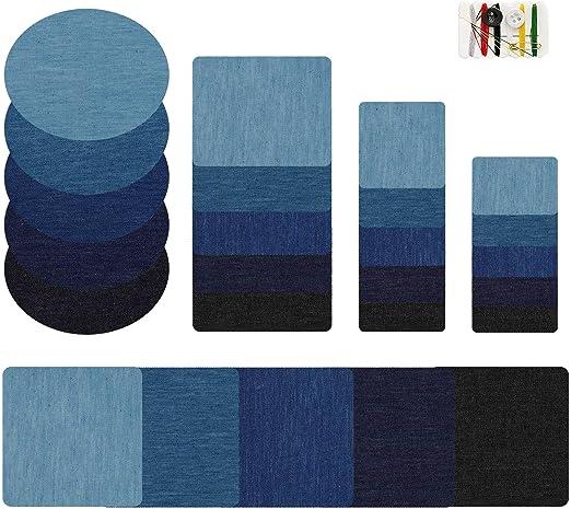 MaoXinTek Parches termoadhesivos Jeans 5 Colores Denim Ferro-on ...