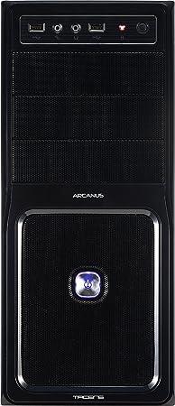 Tacens Arcanus PRO - Caja Semitorre USB 3.0 frontal y rejilla de aluminio, filtro anti polvo, 2 x ventilador 120mm, sin fuente, negro: Amazon.es: Informática