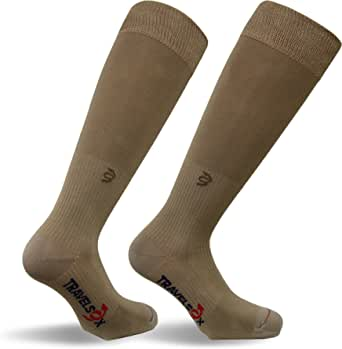 Travelsox, Travel Graduated Compression & Walking Socks, Cooling Channel Plantar Arch Support, TSC1000HC, Pairs