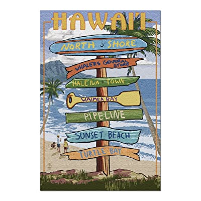 North Shore, Haleiwa, Hawaii - Destinations Sign (Premium 1000 Piece Jigsaw Puzzle for Adults, 20x30, Made in USA!): Toys & Games