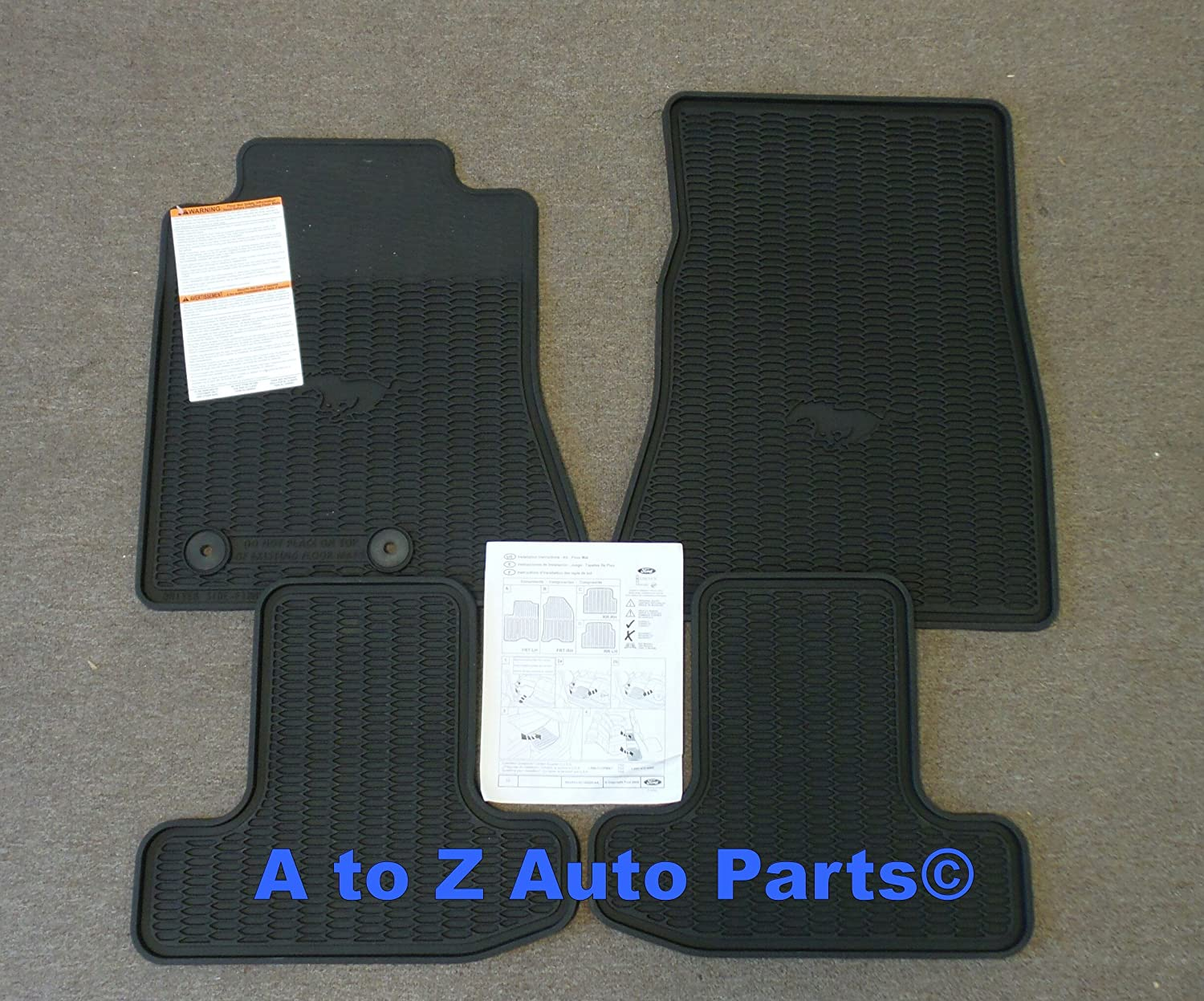 Rubber floor mats mustang - Amazon Com New 2015 Ford Mustang All Weather Slush Style Rubber Floor Mat Set Oem Automotive