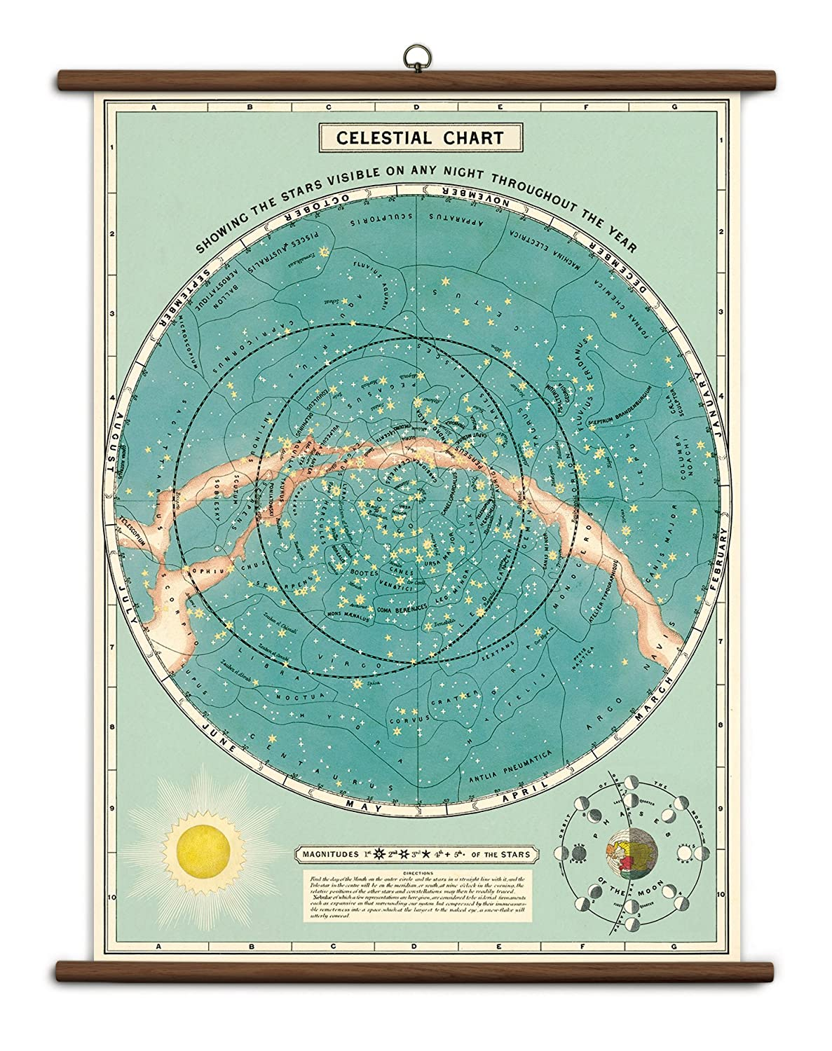 Cavallini Celestial Chart Wrapping Paper Poster