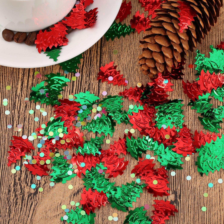 4 Bolsas de Confeti de Árbol de Navidad Confeti en Relieve Confeti de Navidad: Amazon.es: Juguetes y juegos