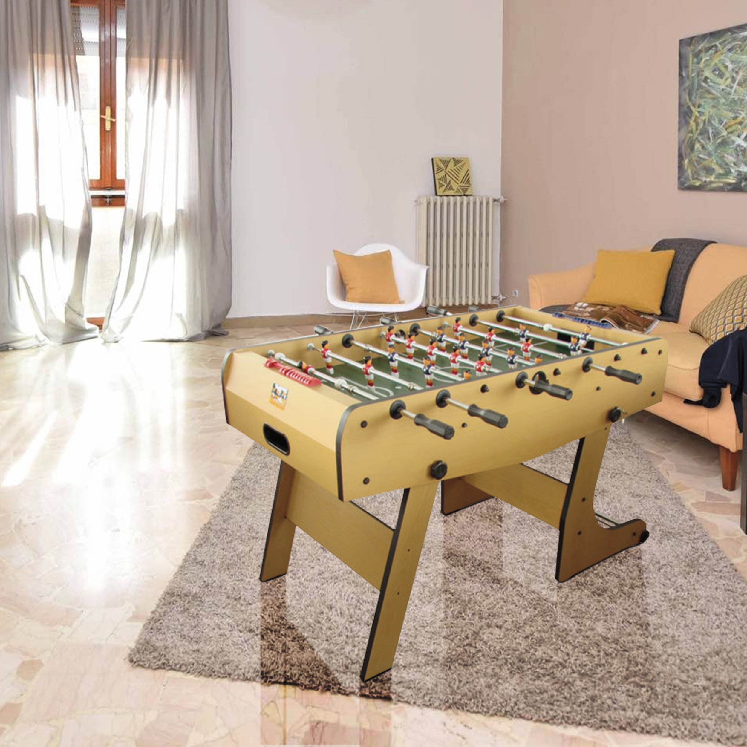René Pierre Folding Foosball Table   Winjoy. Designed With Safety  Telescoping Rods With Ergonomic Handles And Single Goalies   WINJOY U003c  Foosball U003c Toys ...